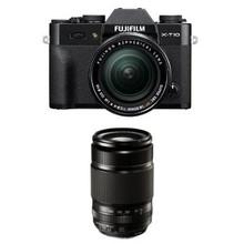 Fujifilm X-T10 Black w/ XF 18-55mm & XF55-200mm F3.5-4.8 Lens Kit