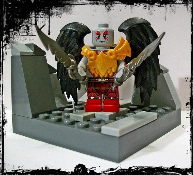 Custom LEGO Minifigure of the Week - Kratos by Silver Fox57