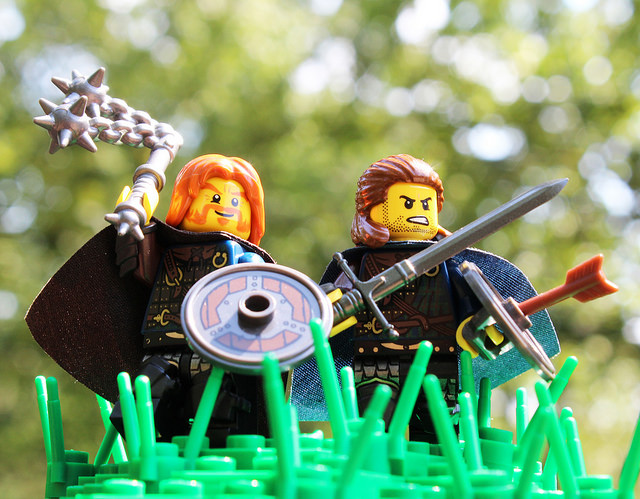Custom LEGO Minifigure of the Week - Pictish Warlords by Brother Steven