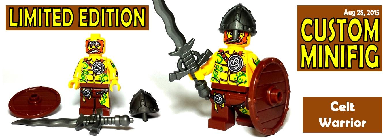 custom lego minifigure - celt warrior - limited edition