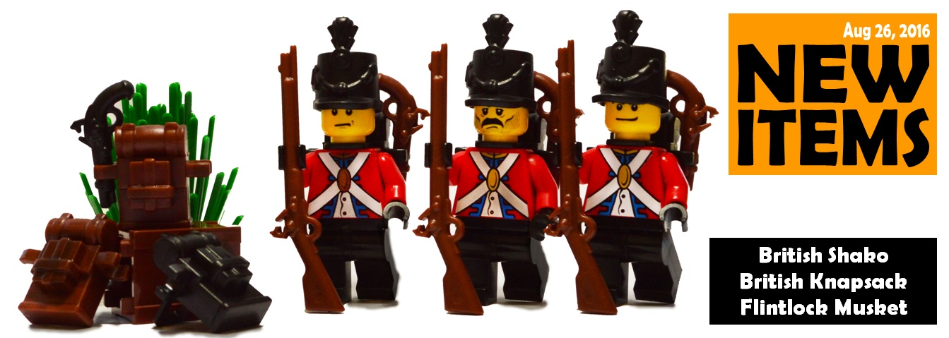 new custom lego redcoat accessories