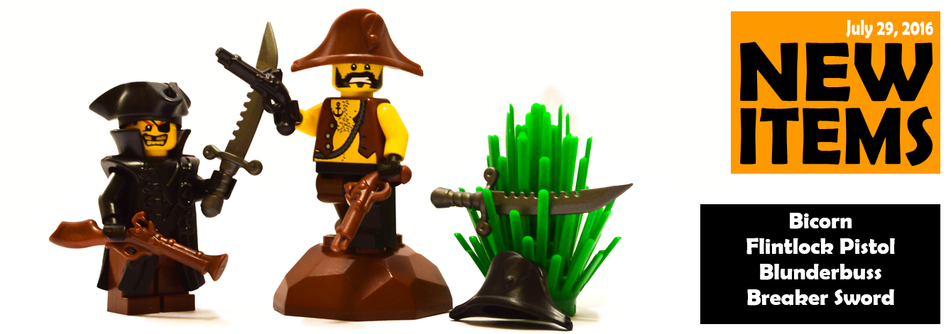 new custom lego pirate accessories released