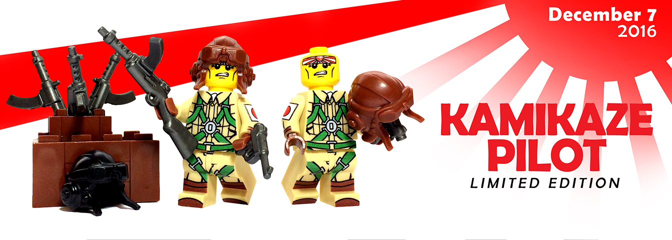 limited edition custom lego Kamikaze minifigure