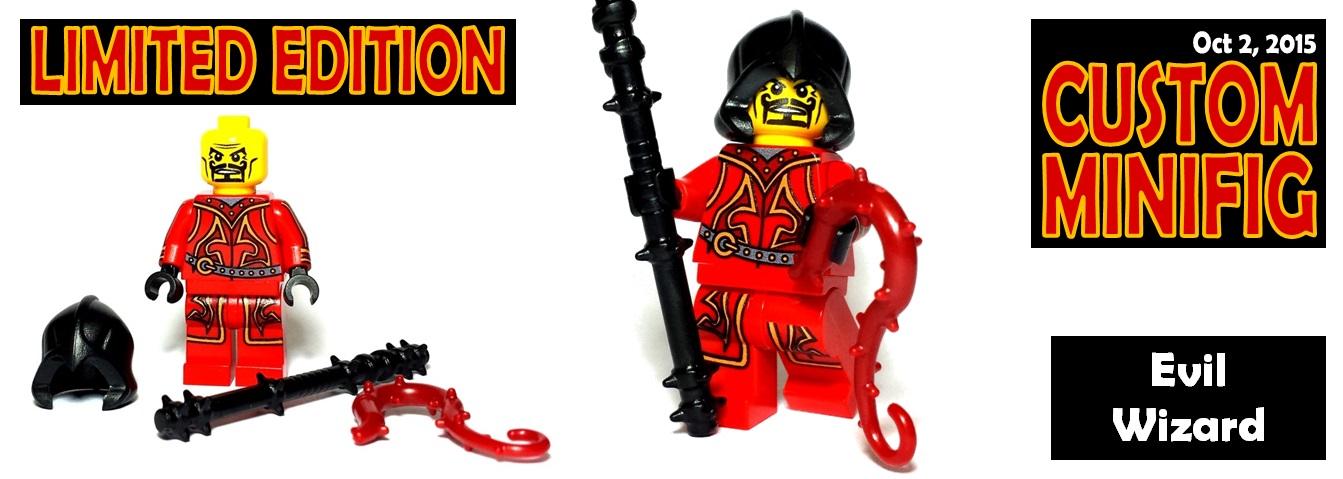 Evil Wizard custom lego minifigure