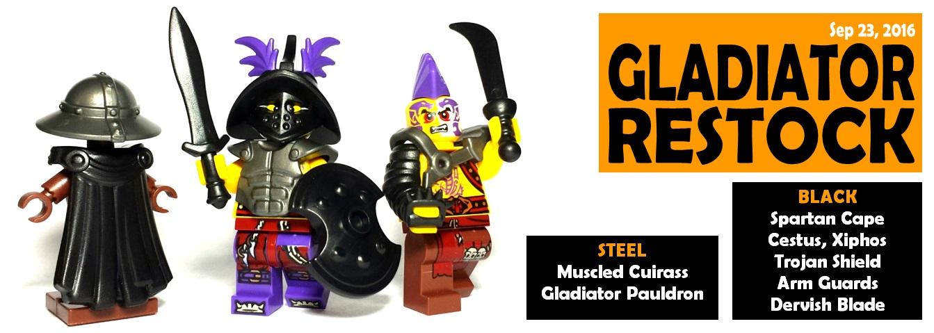 gladiator minifigure and spartan minifigure restocks