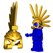 Minifigure Helmet - Bladed Helm