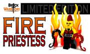Custom LEGO® Minifigure - Fire Priestess