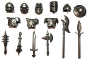 "BrickWarriors 2.5"" Scale Medieval Crusader Army Builder Pack"