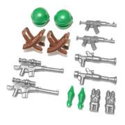 "BrickWarriors 2.5"" Scale Guerrilla Army Builder Pack"