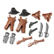 """BrickWarriors 2.5"""" Scale Pirate Army Builder Pack"""