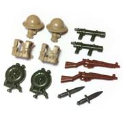 "BrickWarriors 2.5"" Scale WW2 British Flame Trooper Army Builder Pack"