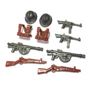 """BrickWarriors 2.5"""" Scale WW2 French Infantry Army Builder Pack"""