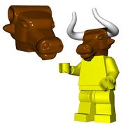 Minifigure Head - Minotaur Head