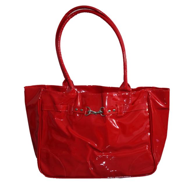 The Red Handbag w/ Silver Clasp