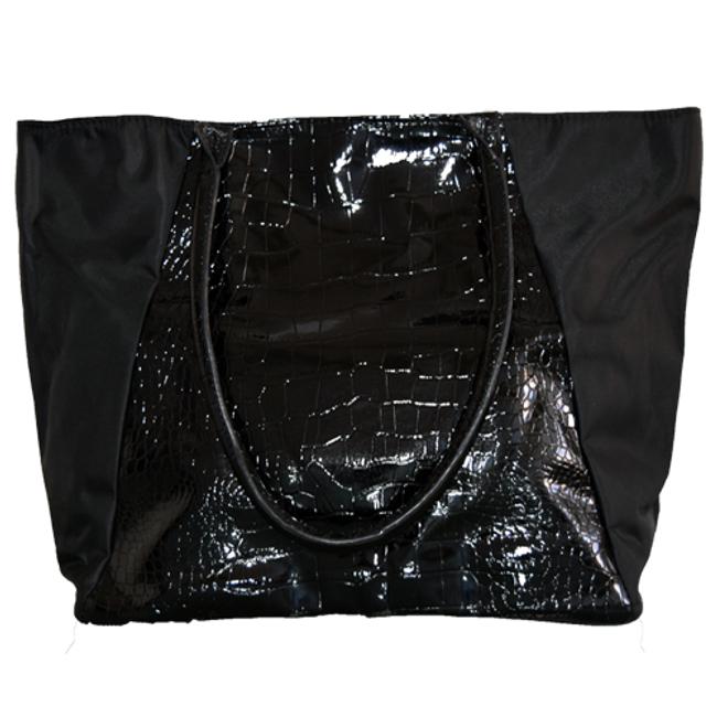 Faux Leather Crocodile Tote Bag