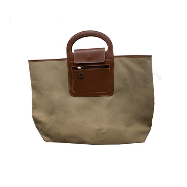 Khaki/Brown Folding Bag