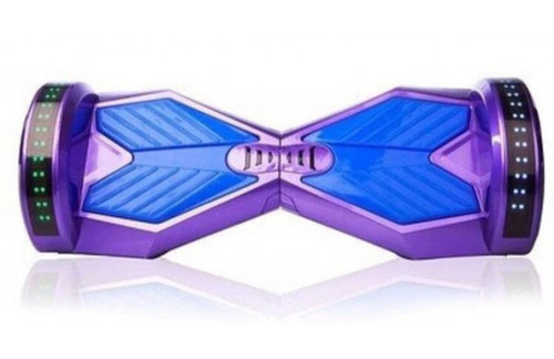 Purple and blue hoverboard