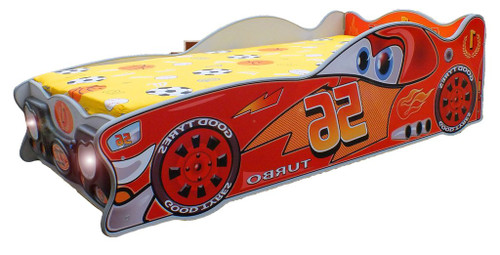 Zigzak Lucky Racer Car Bed | RED
