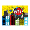 Personalized Pop City Puzzle Red