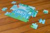 Personalized Jurassic Dino Puzzle Blue