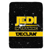 Personalized Jedi In Training Blanket Yellow