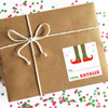 Personalized Santa's Helper Christmas Gift Stickers