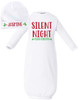 Personalized Silent Night Baby Gown Set