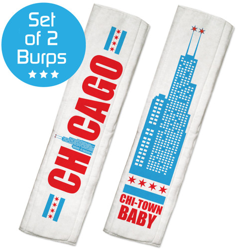 Personalized baby gift sets psychobaby chicago burp cloth set negle Images