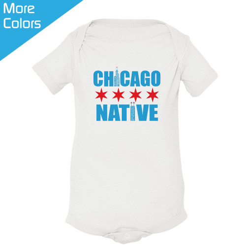 Personalized made in chicago baby shirt personalized chicago native baby shirt negle Choice Image