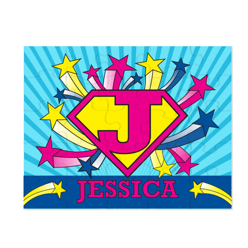 Personalized U-R-A Hero Puzzle Pink