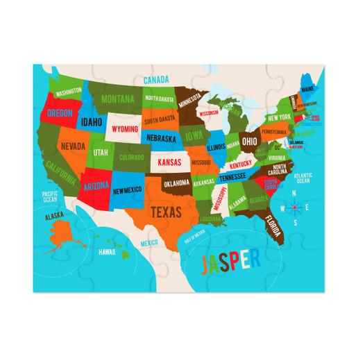 Personalized Hey Hey USA Puzzle Bold
