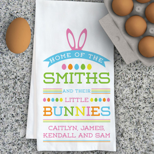 Gifts for grandma gifts for new grandmothers psychobaby personalized little bunnies kitchen towel negle
