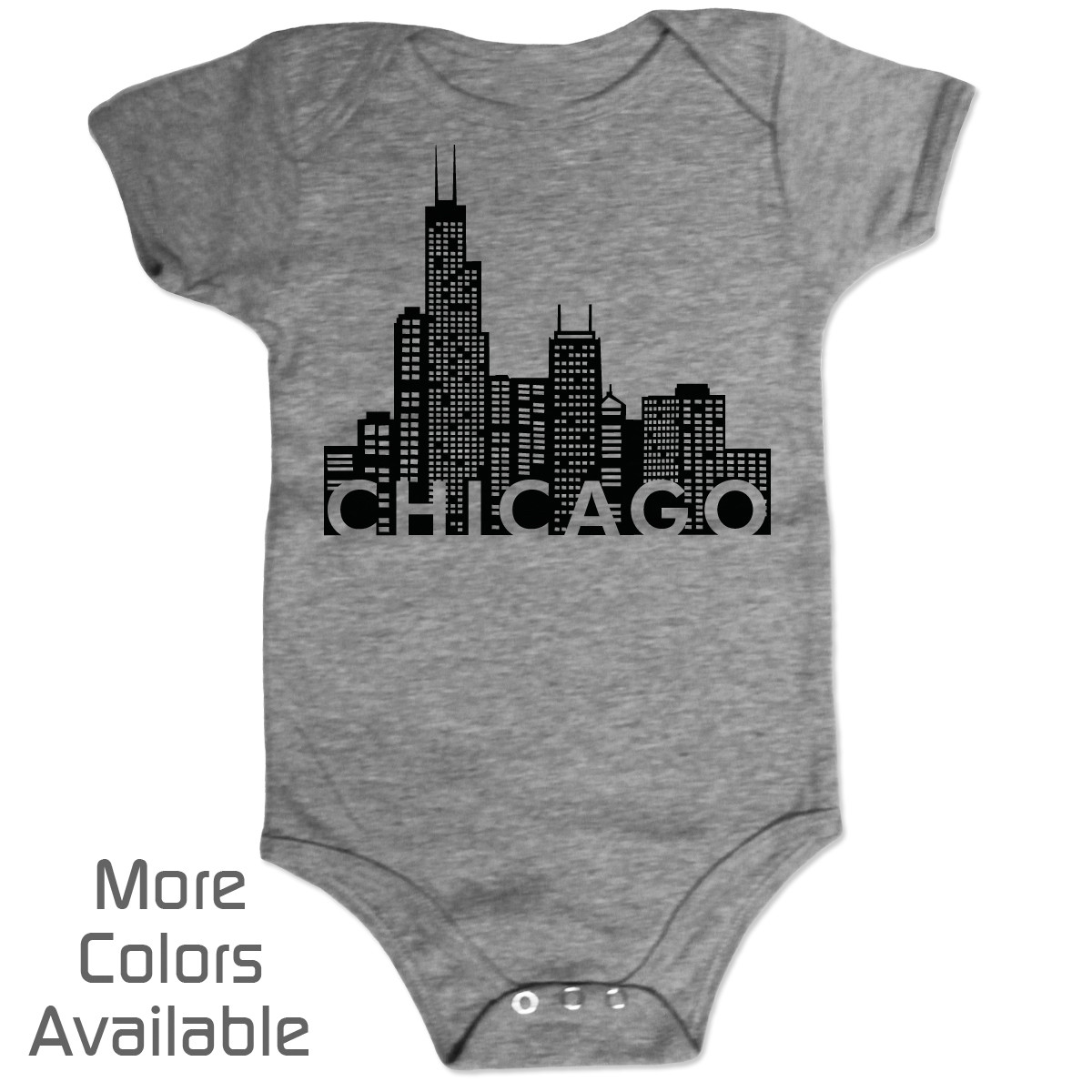 Chicago baby gifts chicago baby shirts chicago flag baby tee personalized chicago skyline baby shirt negle Choice Image
