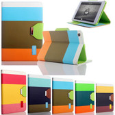 Apple iPad Mini 1 2 3 Retina Rainbow Leather Case Cover mini2 mini3
