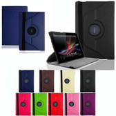 "Sony Xperia Tablet Z2 10.1"" inch 360 Rotating PU Leather Case Cover"