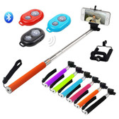 Extendable Camera Selfie Stick Rod Bluetooth Shutter Remote UniPod
