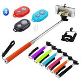 Extendable Camera Selfie Stick Rod Bluetooth Shutter Remote UniPod