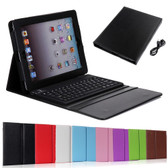 Apple iPad 2 3 4 Bluetooth Keyboard Leather Case Cover iPad3 iPad4