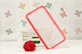 iPhone 4/4S Bumper Frame Matte Clear Hard Back Case (Multi. Colours)