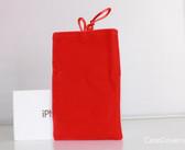 Universal Soft Velvet Bag Pouch for Mobile Phones (Multi. Colours)