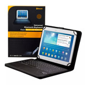 "Universal 10"" Bluetooth Keyboard Leather Case for Samsung Galaxy Tab S 3 4 9.7 10.1 10.5 inch Asus Acer Pendo Pad Onix HP Dell Unisurf Aldi Bauhn"