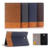 Hybrid Samsung Galaxy Tab A 10.1 T580 T585 Leather Case Cover Skin