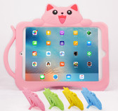 Kids iPad 9.7 2017 Silicone Case Cover Shockproof Children Apple Cat