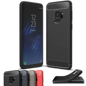 Slim Samsung Galaxy S9 Phone Carbon Fiber Soft Carbon Case Cover G960