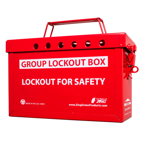 ZING Group Lockout Box (Red)