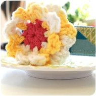 Buttered Popcorn Anniversary Flower for Dogs