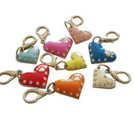 Enamel Heart Dog Collar Charms