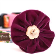 Olive Velvet Collar Flower for Dogs