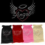 Angel Heart Rhinestone Dog Sweater  (Multiple Colors)