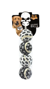 Small Tennis Ball 4 pk - Skull Dog Toy